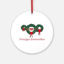 Latvia Christmas 2 Ornament (Round)