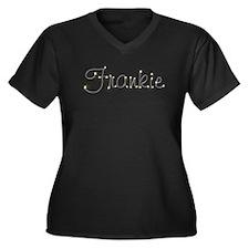 Frankie Spark Women's Plus Size V-Neck Dark T-Shir