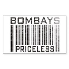 Bombay Cats Priceless Rectangle Decal
