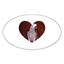 BIRD HEART Oval Decal