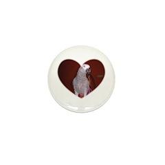 BIRD HEART Mini Button (100 pack)
