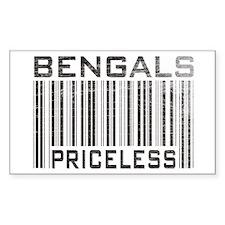 Bengal Cats Priceless Rectangle Decal