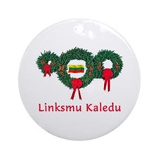 Lithuania Christmas 2 Ornament (Round)