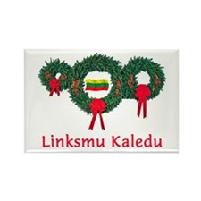 Lithuania Christmas 2 Rectangle Magnet