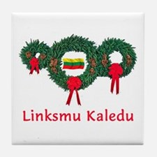 Lithuania Christmas 2 Tile Coaster