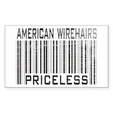 American Wirehair Cats Priceless Sticker (Rectangu