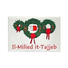 Malta Chrristmas 2 Rectangle Magnet