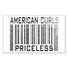 American Curl Cats Priceless Rectangle Decal