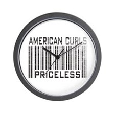 American Curl Cats Priceless Wall Clock