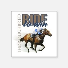 Ride To Win 2 Rectangle Sticker
