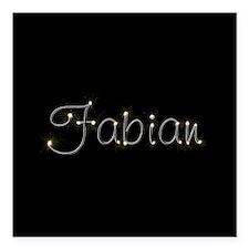 "Fabian Spark Square Car Magnet 3"" x 3"""