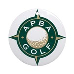 APBA Golf Ornament (Round)