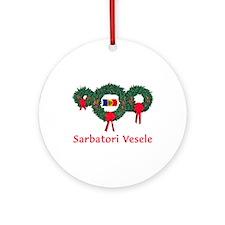 Moldova Christmas 2 Ornament (Round)