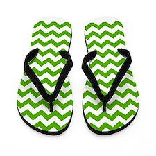 chevron pattern green Flip Flops