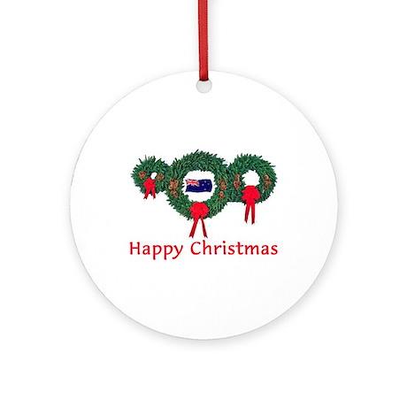 New Zealand Christmas 2 Ornament (Round)
