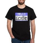 Hello I Am Lost Sticker Black T-Shirt