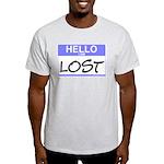 Hello I Am Lost Sticker Ash Grey T-Shirt