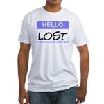 Hello I Am Lost Sticker Fitted T-Shirt