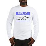 Hello I Am Lost Sticker Long Sleeve T-Shirt