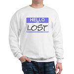 Hello I Am Lost Sticker Sweatshirt