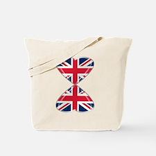 UK Hearts Flag Art Tote Bag