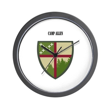 Camp Allen with Text Wall Clock