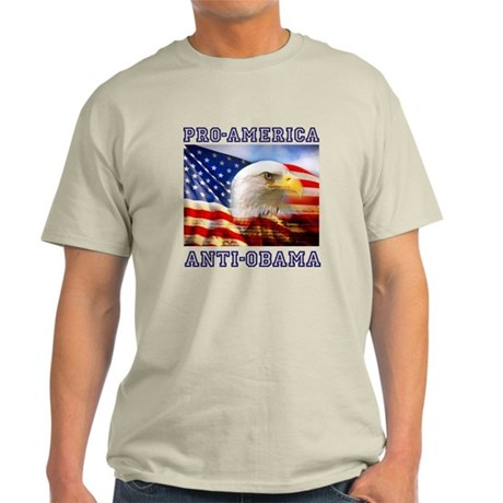 Pro America/ Anti Obama Light T-Shirt