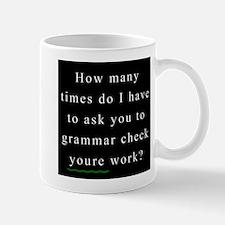 Grammar Check 1 BLACK Mug