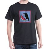 Watermelon and crow Dark T-Shirt
