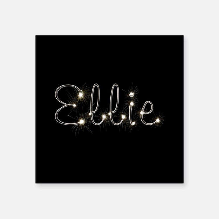"Ellie Spark Square Sticker 3"" x 3"""