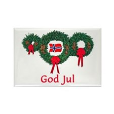 Norway Christmas 2 Rectangle Magnet