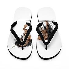 Tiger Unicorn Flip Flops