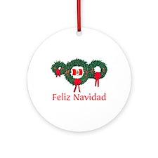 Peru Christmas 2 Ornament (Round)