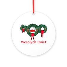 Poland Christmas 2 Ornament (Round)