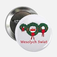 """Poland Christmas 2 2.25"""" Button"""