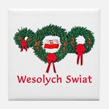 Poland Christmas 2 Tile Coaster