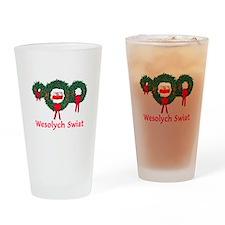 Poland Christmas 2 Drinking Glass