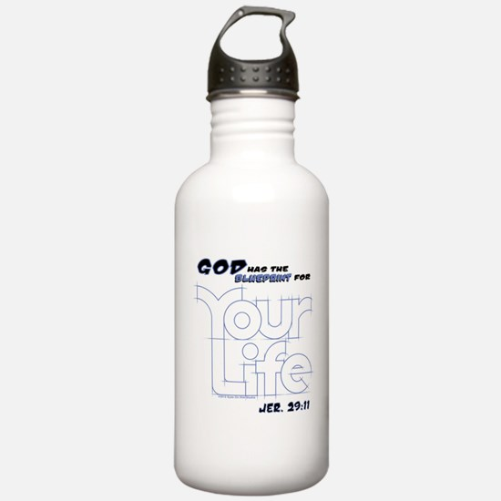 """""""GOD Has The BLUEPRINT For YOUR Life!"""" Water Bottle"""