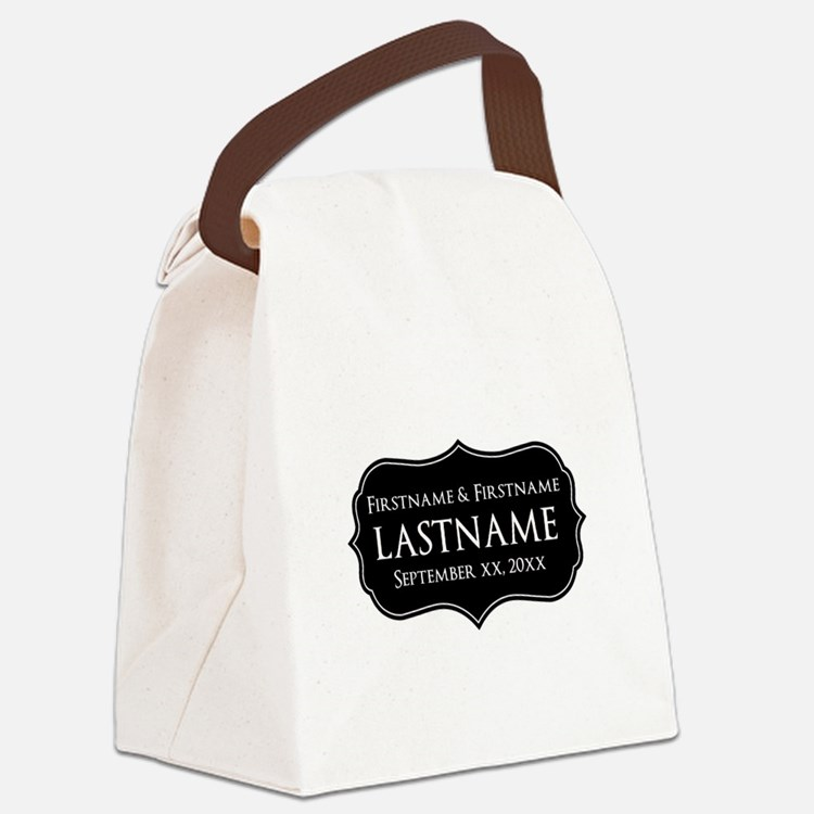 Wedding Favor with Custom Text Canvas Lunch Bag
