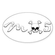 MX5 Skull Bumper Stickers