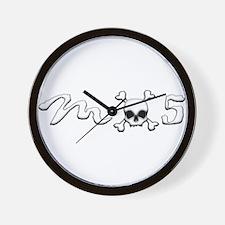 MX5 Skull Wall Clock