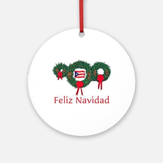 Puerto Rico Christmas 2 Ornament (Round)