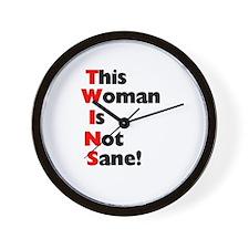 Not Sane! Wall Clock