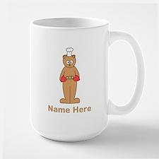 Custom Name. Baking Cartoon. Large Mug