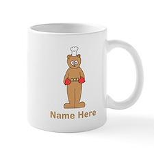 Custom Name. Baking Cartoon. Mug
