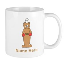Custom Name. Baking Cartoon. Small Mugs