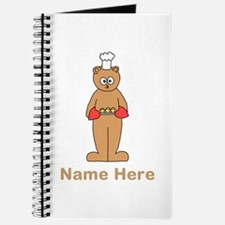 Custom Name. Baking Cartoon. Journal
