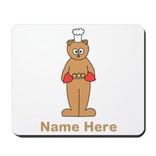 Custom Name. Baking Cartoon. Mousepad