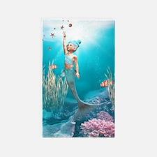 Cute Mermaid 1 3'x5' Area Rug