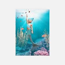 Cute Mermaid 1 5'x7'Area Rug
